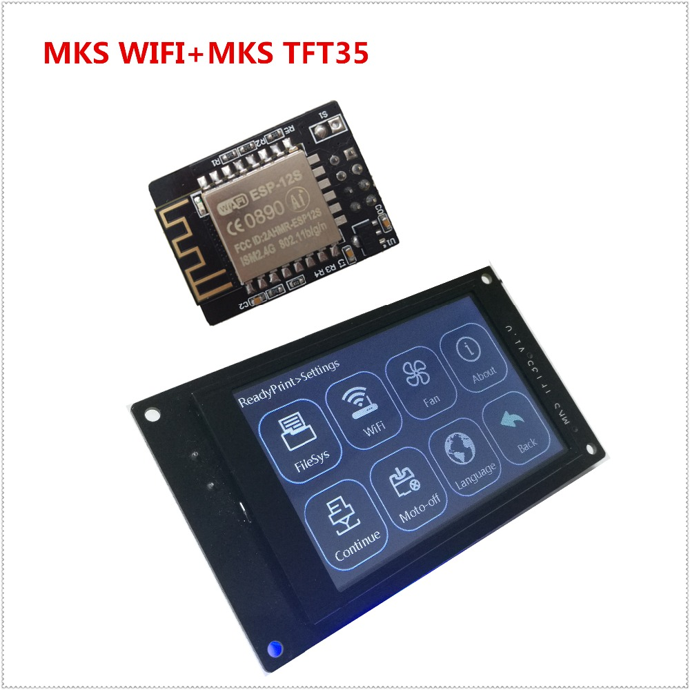 3d printer display MKS TFT35 V1.0 touch screen + MKS TFT WI-FI module remote control LCD panel 3.5'' TFT colorful displayer