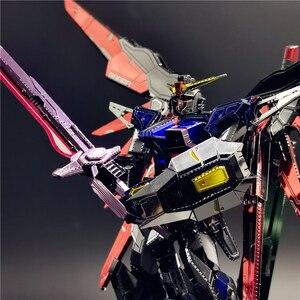 Image 5 - MMZ รุ่น 3D โลหะหุ่นยนต์ DESTINY GUNDAM รุ่น DIY เลเซอร์ตัดประกอบจิ๊กซอว์ของเล่นเดสก์ท็อปตกแต่งของขวัญเด็ก