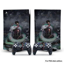Spirited Away Style PS5 Disc Edition Skin Sticker for Playstation 5 Console & 2 Controllers Decal Vinyl Protective Skins Style 1