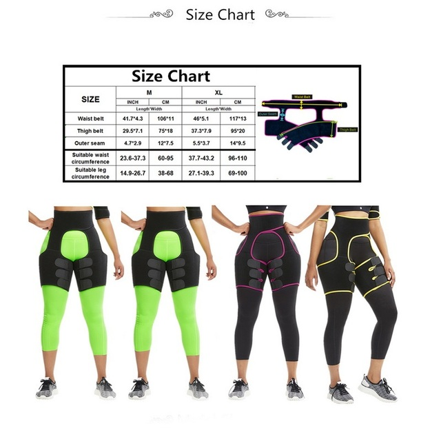Neoprene Thigh Trimmer Sweat Leg Shapers Slender Slimming Belt Slim Waist Trainer Shapewear Toned Muscles Band Thigh Slimmer Wra 4