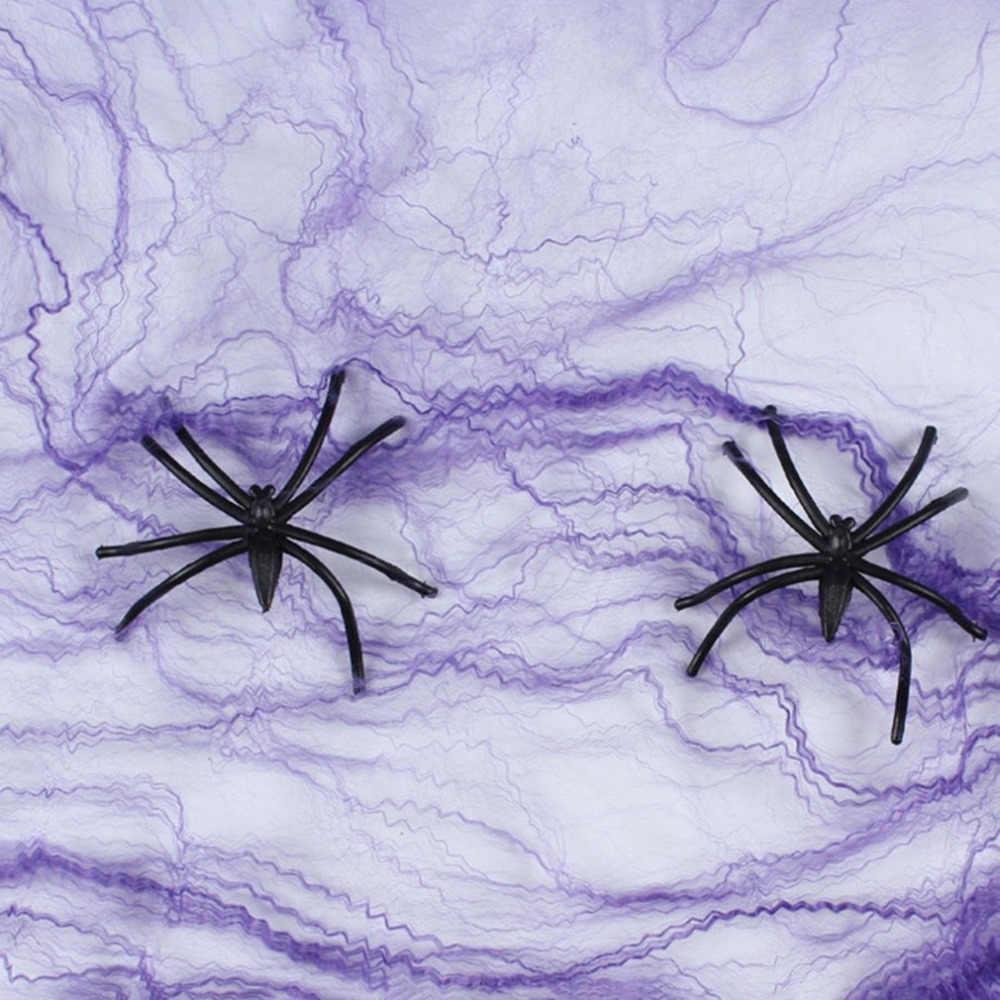 Halloween Natal Menakutkan Pesta Spider Mesh Laba-laba Adegan Props Horor untuk Berhantu Bar Laba-laba Rumah Dekorasi Festival