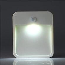 Умная маленькая Индукционная Ночная лампа для человеческого тела с инфракрасным светом, светодиодный светильник с квадратным датчиком