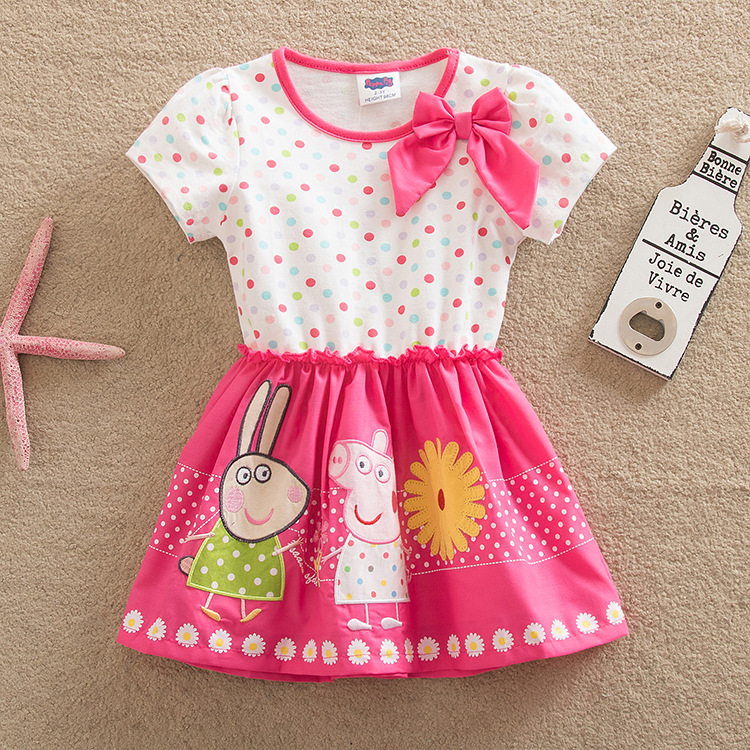 Peppa Pig Long And Short Sleeve Skirt Dress Plush Cotton Girl Stitching Cute Cartoon Lace Dress Skirt Clothing Toys Doll