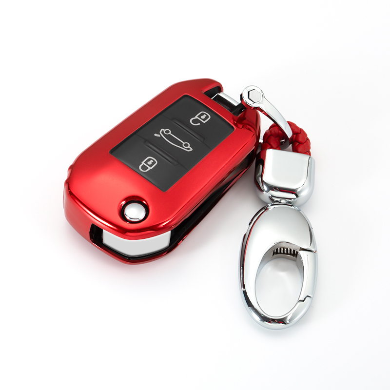 New Soft TPU 3 Button All Inclusive Car Key Case Cover For Peugeot 107 308sw 407 208 508 408 2018 Accessories Protection Shell