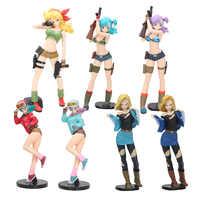 25cm Dragon Ball Paillettes & Mirages Bulma Déjeuner NO 18 Filles PVC Collection de Figurines Modèle Jouet
