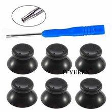 Ivyueen 6 pçs preto cinza 3d analógico vara joystick para xbox 360 controlador tampões de polegar para x box 360 peças de reparo analógico