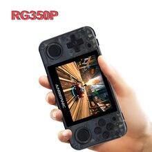 Console de jeu portable RG350P avec écran IPS de 3.5 pouces, lecteur vidéo HD, système Open Source avec carte TF de 32 go