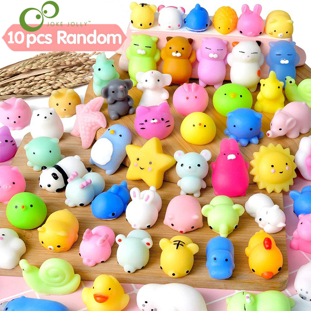10Pcs/set Mochi Squishy Toys Mini Squishies Kawaii Animal Squishys Party  Easter Gifts for Kids Stress Relief Toy YJN 1