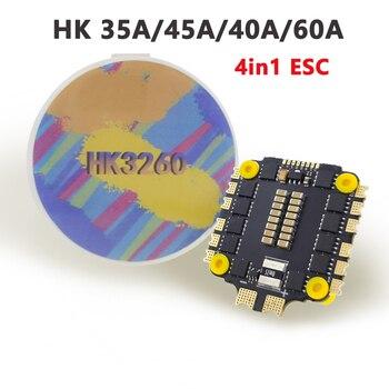 HAKRC HK 32BIT 40A 60A BLHeli-32 4in 1 velocidad ESC controlador 8BIT 35A 45A BLHeli-S DShot150/300/600 STM32F051 avanzada PCB