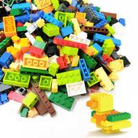 Hot DIY Colorful Building Blocks set Bricks Kids Creative sticker Block Toys Figures for Children Girls Birthday Christmas Gift