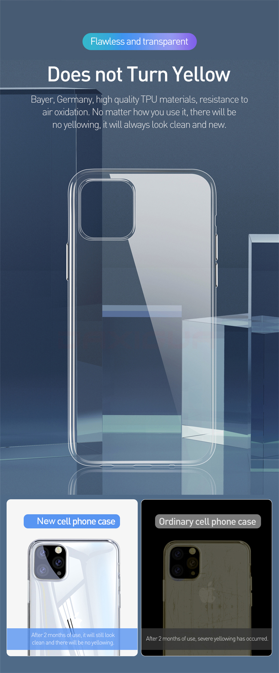 Clear iPhone 11, 11 Pro, 11 Pro Max Case 12