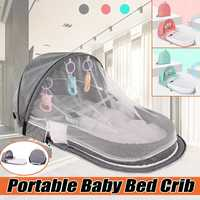 Foldable Baby Bed Multi function Mummy Bag Portable Travel Baby Crib cot With Mosquito Net Breathable Infant Sleeping Basket