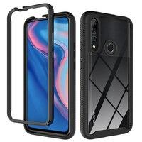 Funda de teléfono para Huawei Honor Nova 20 Y7P Y9 Y7 Y6 5T Y8S Prime 2019, moda 2 en 1, armadura anticaída, carcasa trasera transparente resistente