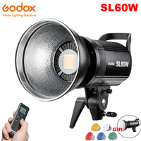 Godox SL 60W SL60W LED Continuous Video Light 60W CRI 95+ White 5600K Bowens Mount with Remote Control for Sony Photography