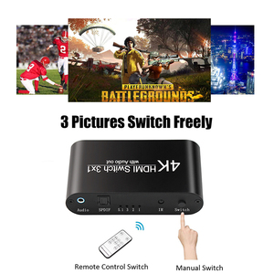 Image 2 - 1080P HDMI to HDMI Switcher 3x1 3 In 1 Out 4K Audio Extractor with Remote Audio HDMI In SPDIF Out for TV PC Projector Camera