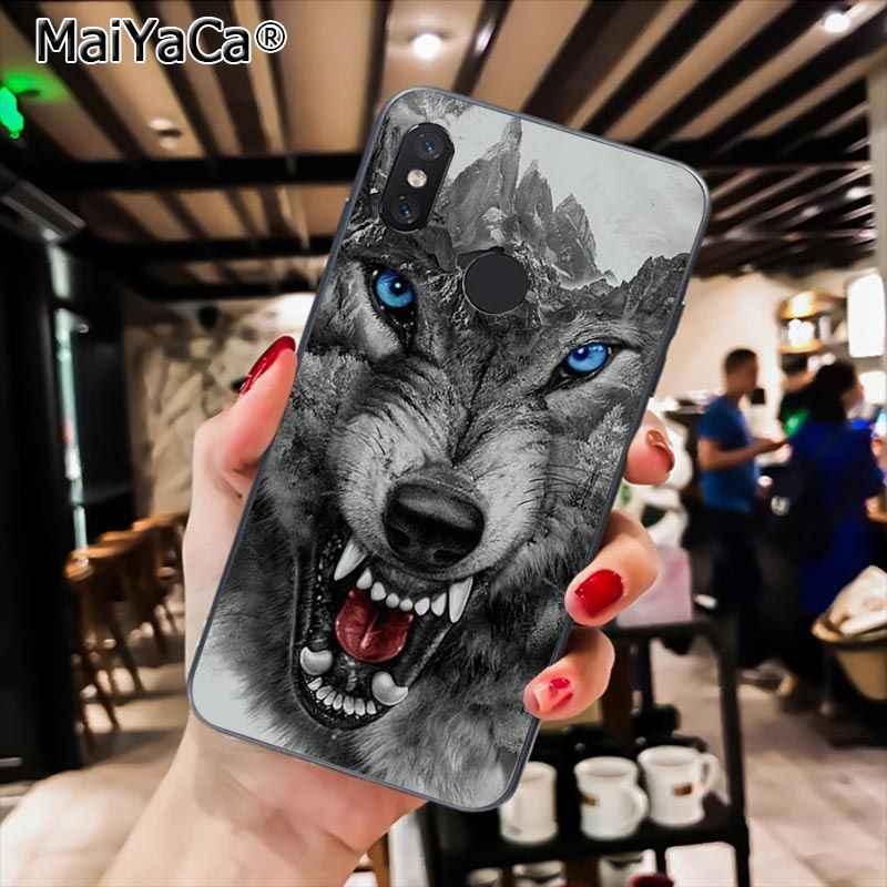 MaiYaCa الذئب الحيوان DIY الطباعة الرسم حقيبة لهاتف xiaomi Redmi8 4X 6A Redmi الذهاب Redmi5 5 زائد Note7 8ProA1 A2Lite