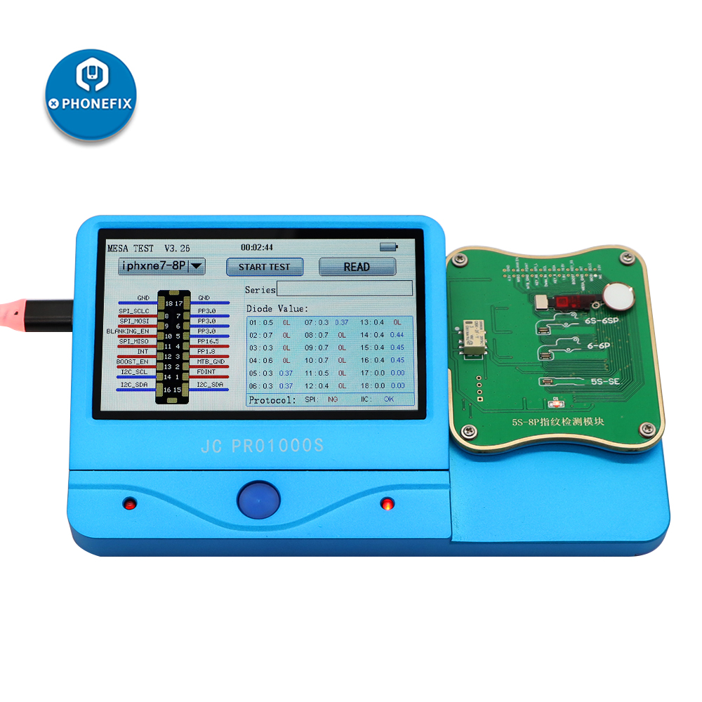JC FPT-1 Fingerprint Testing Module For IPhone 5S 6P 7 7P 8 8P Fault Detection Fingerprint Serial Number Reading And Write Tool