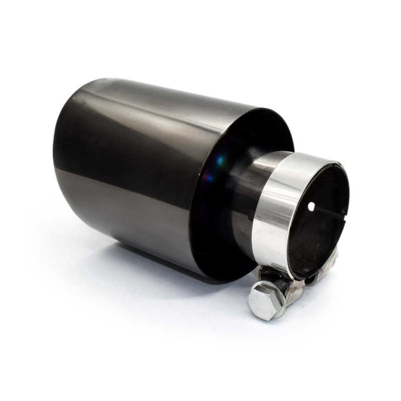 1 pcs inlet size 2 36inch outletsize3 5inch exhaust tip universal exhaust pipe 304 stainless steel muffler tip for car exhaust