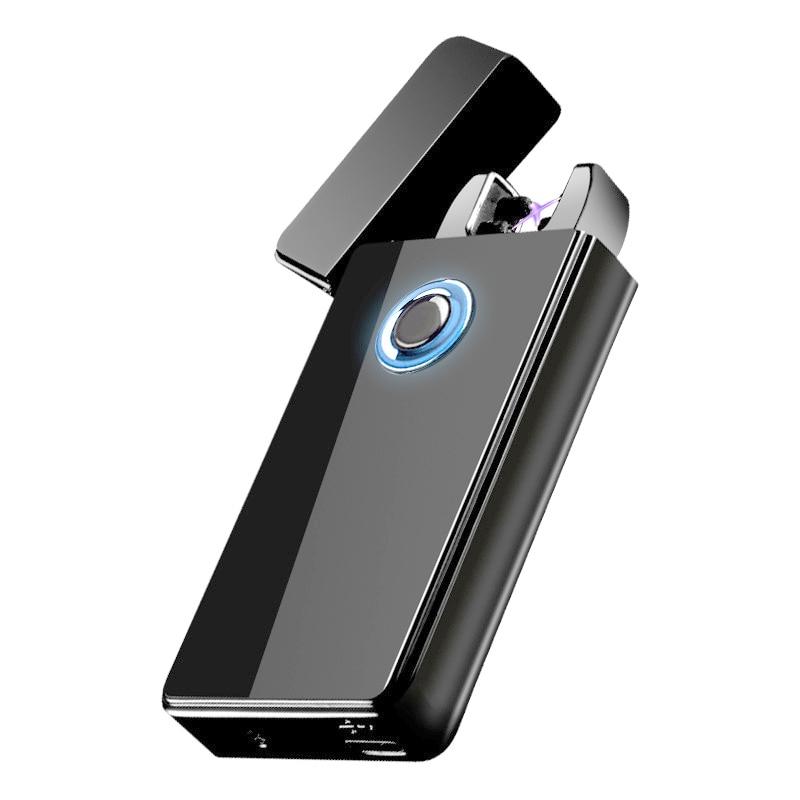 Двойной для Плазменно дуговой зажигалки USB Перезаряжаемый ветрозащитный негорящий Электрический Зажигалка для сигар свечи сигарет 10 шт./па... - 2