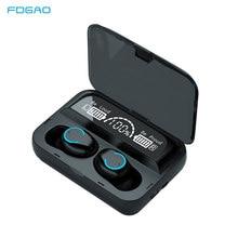Écouteurs sans fil Bluetooth 5.1 TWS, oreillettes avec Microphone, étui de charge 2000mAh, stéréo 9D, suppression du bruit, pour le sport