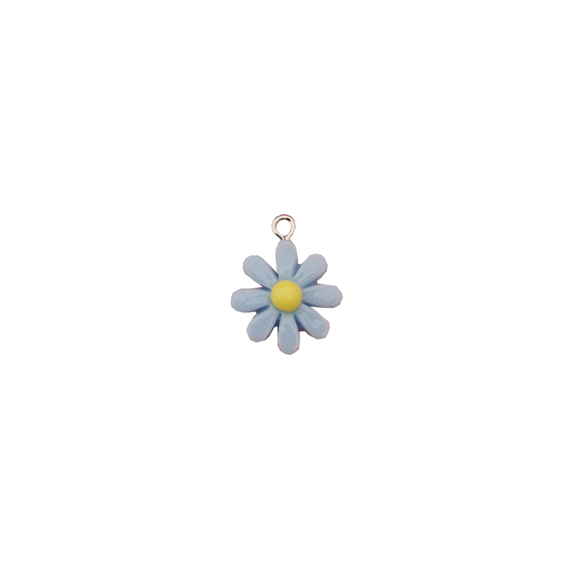 20Pcs Kawaii Resin Little Daisy Sun Flower Charms Pendants For DIY Decoration Earrings Key Chains Fashion Jewelry Accessories 6