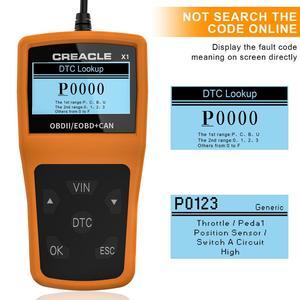 Image 3 - X1 לקרוא/ברור תקלת קוד Reader סריקת כלי OBDII/OBD לקרוא DTC OBD2 רכב אבחון אוטומטי כלי אבחון סורק עבור רכב