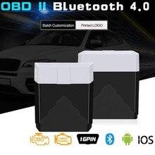 מיני OBD2 ELM327 אבחון כלי Bluetooth 4.0 סריקת כלי טוב יותר מ Elm 327 V1.5 רכב אבחון Odb2 Obd2 סורק עבודה IOS