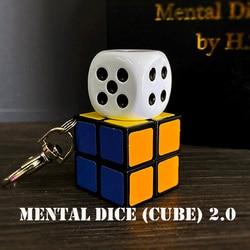 Dadi Mentale (Cubo) 2.0-Senza Fili di Ricarica Trucchi di Magia Mago Close Up Illusions Gimmick Prop Metalism Anima Previsione Magia