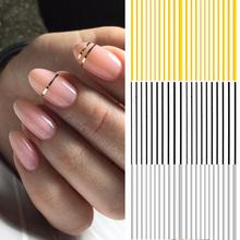 1 Pc adesivi per strisce per unghie nero oro oro rosa argento nastro per strisce metalliche adesivo per Nail Art consigli per lamina fai da te adesivi per unghie decalcomanie cheap CN (Origine) 6 4cm*5 3cm 47836 Paper Water Decals