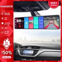 Android 8,1 4G 12 дюймов Видеорегистраторы для автомобилей, Wi-Fi, GPS навигатор зеркало заднего вида для авто Регистраторы Оперативная память 4G Встро...