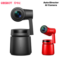 OBSBOT Tail AI Camera Tracking Auto Zoom 3-Axis Gimbal 4k 60fps Auto Zoom Robot Track Selfie Video Camera for Vlogging Youtube