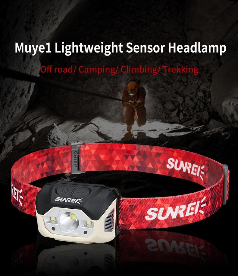 Faro recargable SUNREI MUYE1 para pesca/al aire libre Foco portátil de 50W, luz de trabajo LED de 3 modos recargable, 18650 36 LED, lámpara exterior para caza, Camping, linterna D25