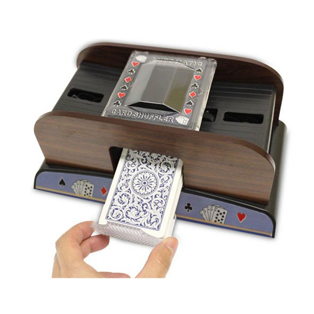 Poker Playing Cards Wooden Electric Automaoard Gametic Card Shuffler Playing Card Automatic Shuffling Machine