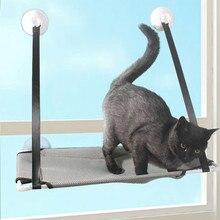 Hamaca para gato doméstico cama Ventana de verano para mascotas hamaca cama casa Cama de la habitación de la succión de la Copa colgante de pared para mascotas de malla de hamaca respirable cama