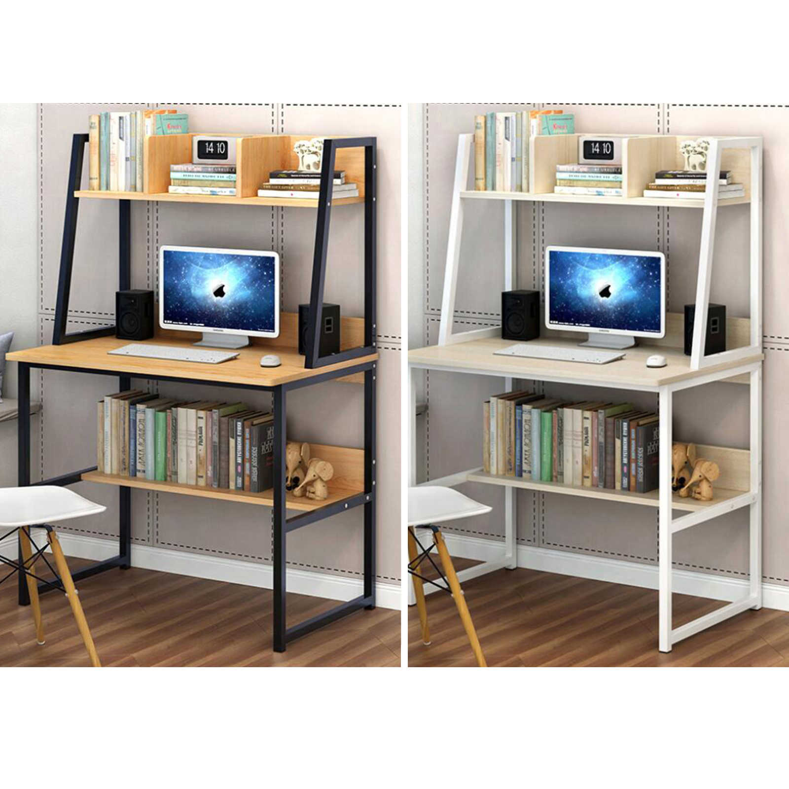 Uk Us Au Warehosue Desk Student Study Office Pc Computer Table Steel Mdf Laptop Furniture Home White Yellow Laptop Desks Aliexpress