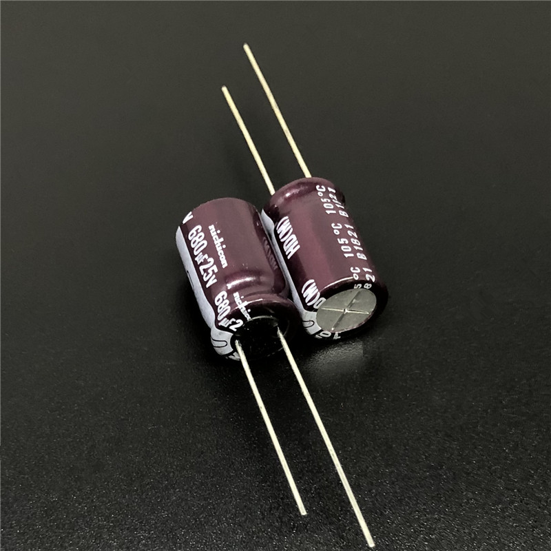 10Pcs/100Pcs 680uF 25V NICHICON HD Series 10x16mm Super Low Impedance 25V680uF Aluminum Electrolytic Capacitor