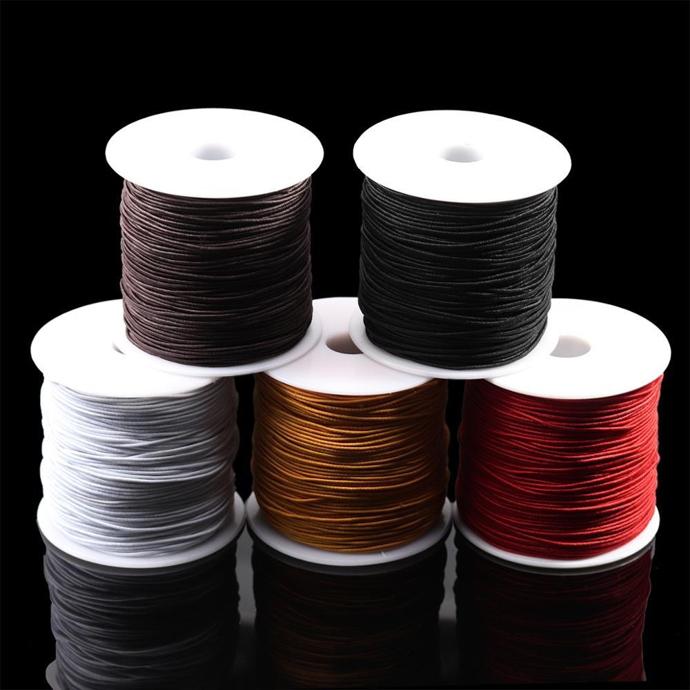 7 m/saco 1mm redondo elástico cabo de beading estiramento thread/corda/corda para colar pulseira jóias que faz a fonte