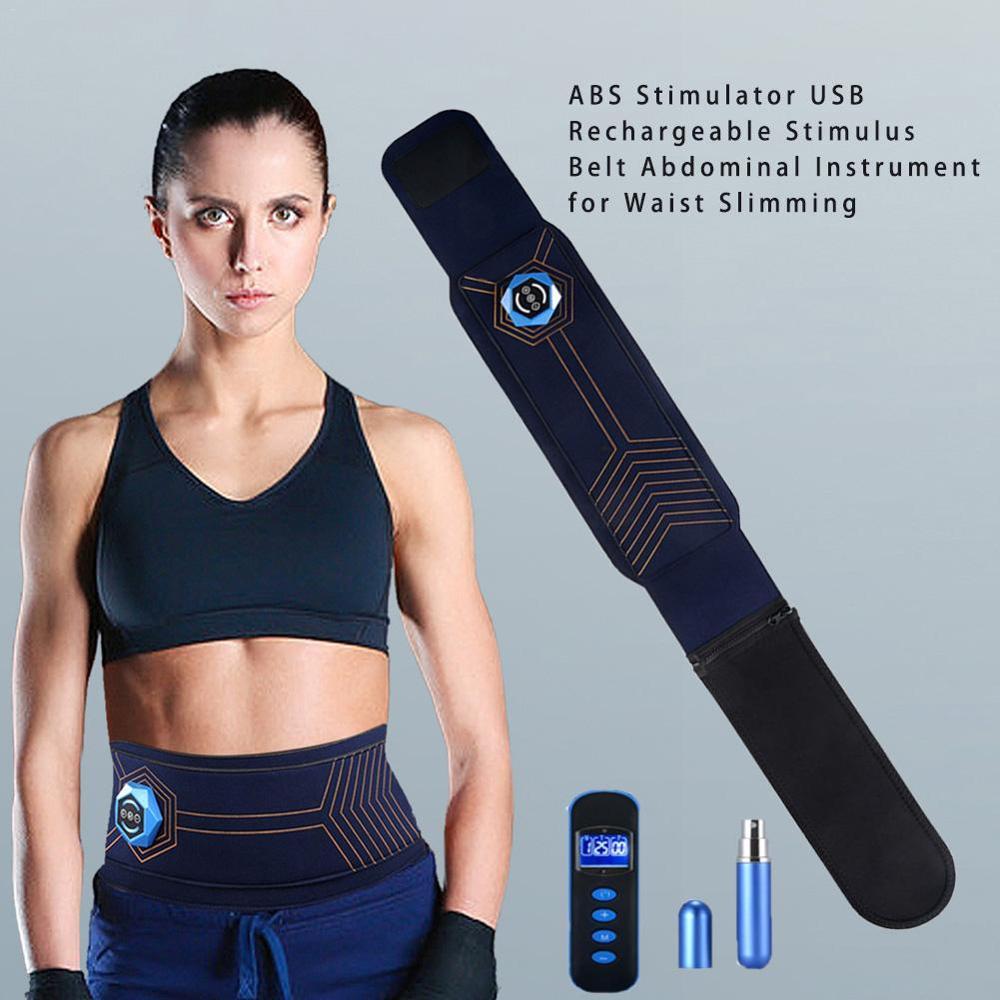 Electric Vibration ABS Stimulator EMS Abdomen Muscle Trainer Exercise Belt