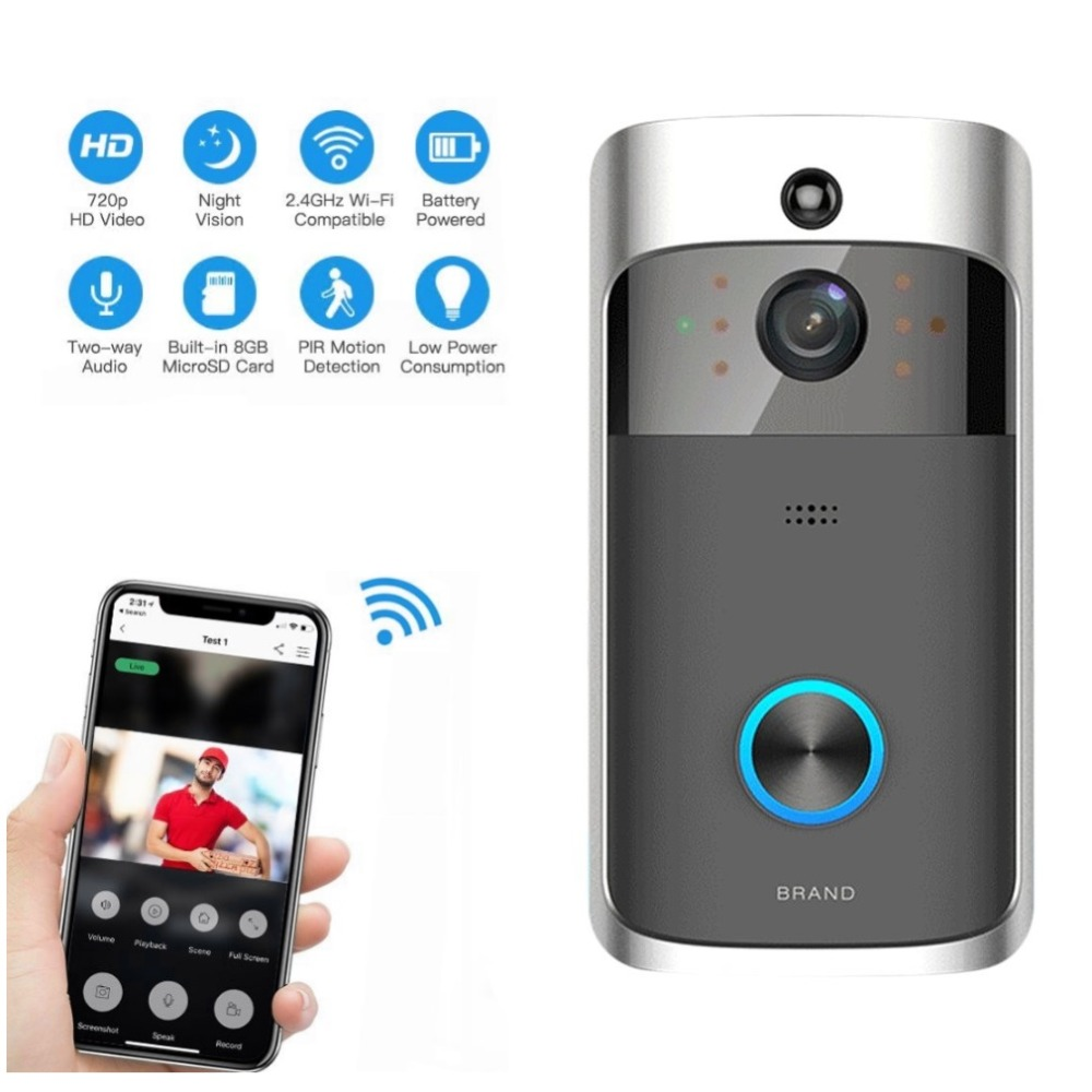 New M3 Wireless Video Doorbell WIFI Remote Intercom Detection Electronic Home Security HD Visible Monitor Night Vision Doorphone