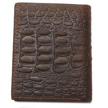 Crazy Horse Leather Wallet Crocodile Pattern Style Genuine Leather Purse Men Bag Hot Selling Men Card Holder