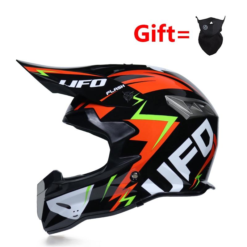 Racing Off-road Motorcycle Helmet DOT Motocross Professional  Motorbike Dirt Bike Full Face Moto Helm Casco Vintage Free Mask