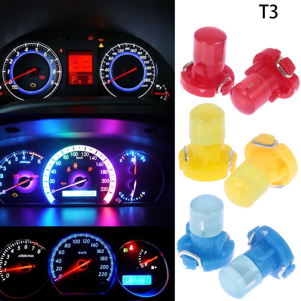 1Pc T3 Cob 12V Wedge Led Instrument Dashboard Lamp Dash Lampje Panel Lampen Auto Led Lampen Automobiles accessoires