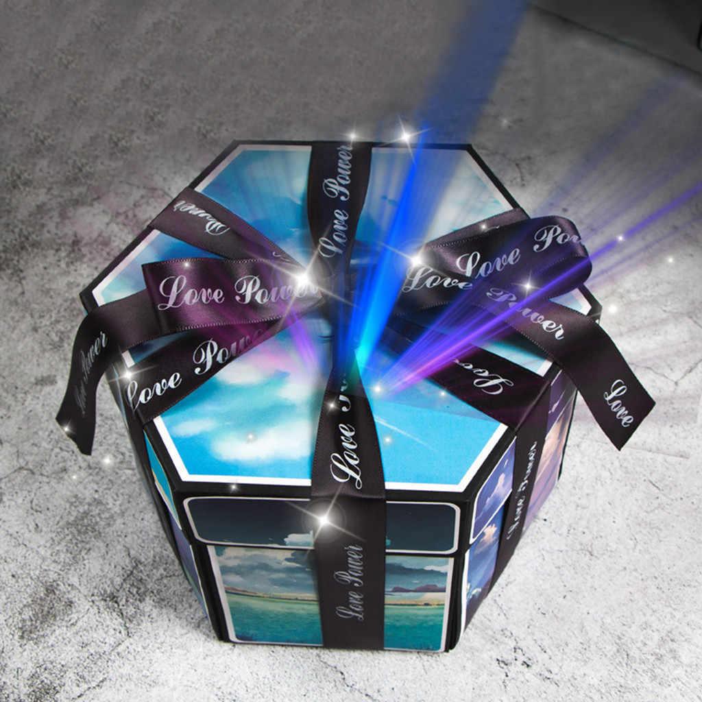 Casamento dia dos namorados diy surpresa amor explosão caixa presente namorado propor adereços álbum de fotos scrapbook aniversário presentes