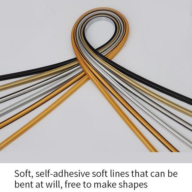 Pvc decorative soft line mirror border edge gypsum ceiling line background wallpaper self-adhesive strip Home accessories