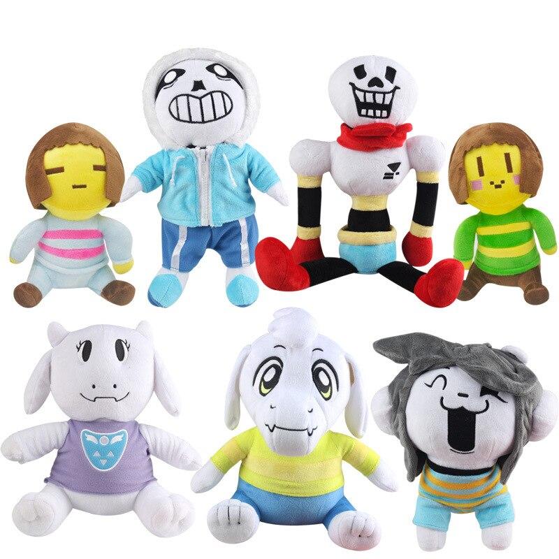 Sous-conte en peluche jeu sous-conte Sans Toriel Frisk Chara Temmie doux en peluche jouets en peluche pour enfants enfants cadeaux