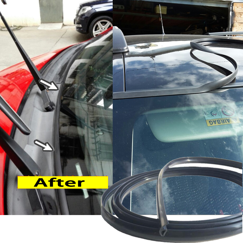 Резиновая уплотнительная лента для лобового стекла для Audi A4 B6 VW Passat B5 B7 Skoda Octavia Renault Megane 2 3 Ford Focus mk2|Тюнинговые молдинги|   | АлиЭкспресс