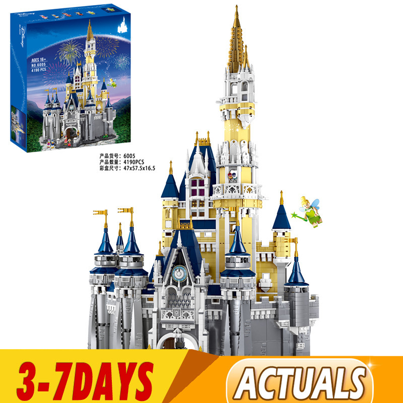 IN Stock Cinderella Princess <font><b>Castle</b></font> City Set Model Building Block Kid Toy Gifts Compatible <font><b>71040</b></font> 16008 30010 83008 6005 66008 image