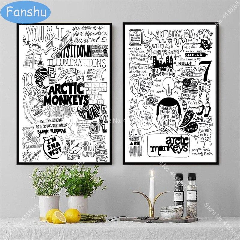 Art Print Poster Canvas Arctic Monkeys