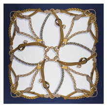 New Belt Chain 130cm Square Scarf Luxury Brand Scarves For L