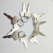 10pc key For Sumitomo lock key For Sumitomo excavator hydraulic pump door lock Excavator Ignition Key For SUMITOMO digger
